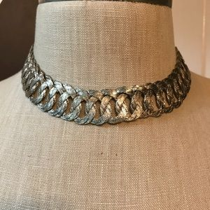 Vintage 1940's hand made in Mexico silver choker.